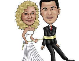 #39 para Cartoon wedding couple por cassiajc