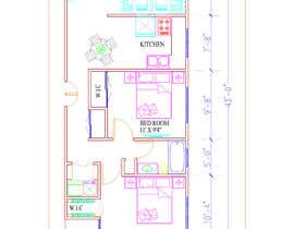 #8 para Create a 3d floor plan of 2 bedroom apt por supravadehury