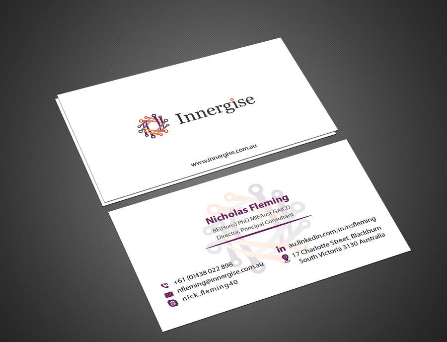Entry 178 by imtiazmahmud80 for design business cards for innergise contest entry 178 for design business cards for innergise reheart Choice Image