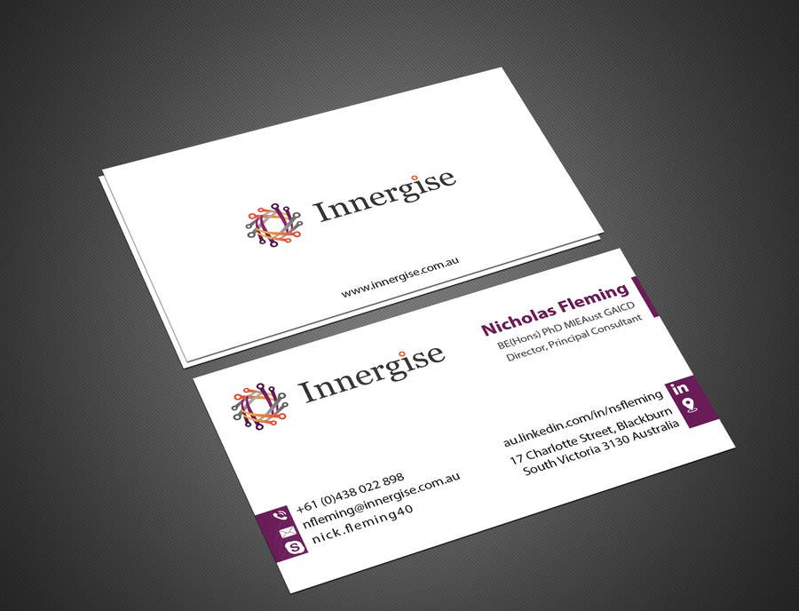 Entry 180 by imtiazmahmud80 for design business cards for contest entry 180 for design business cards for innergise reheart Choice Image