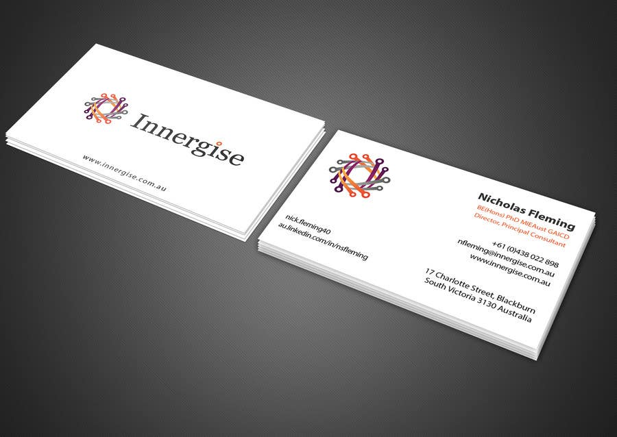 Entry 209 by imtiazmahmud80 for design business cards for innergise contest entry 209 for design business cards for innergise reheart Choice Image