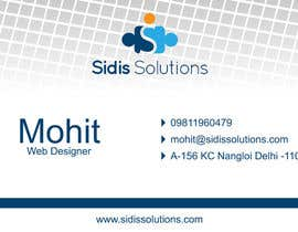 #4 untuk Design some Business Cards for Sidis Solutions oleh ExtremeAnimation