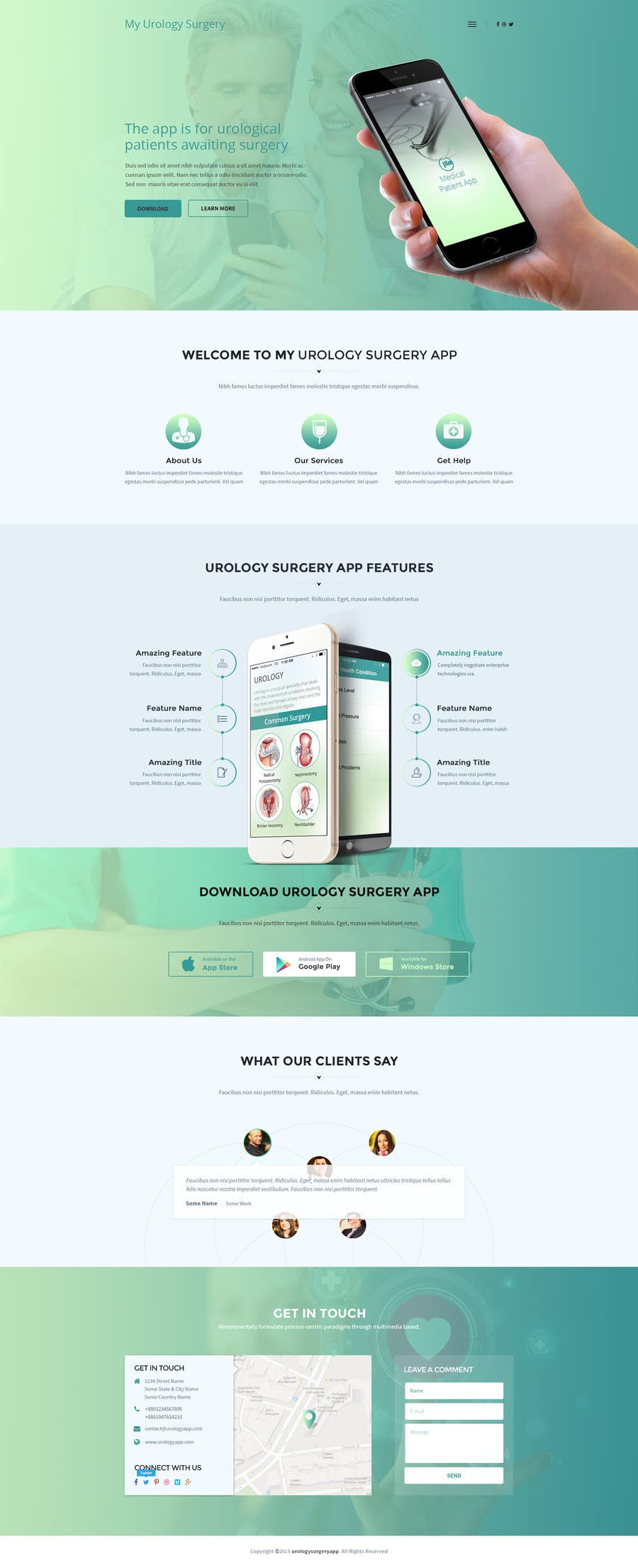 Penyertaan Peraduan #4 untuk Design a Website Mockup homepage for a medical app