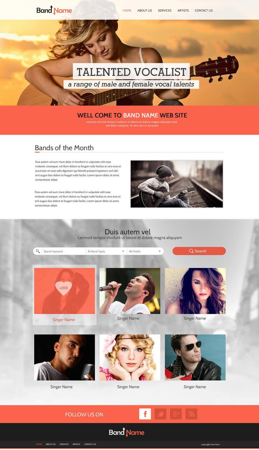 Bài tham dự cuộc thi #10 cho Design a Website for Music Band introduction site