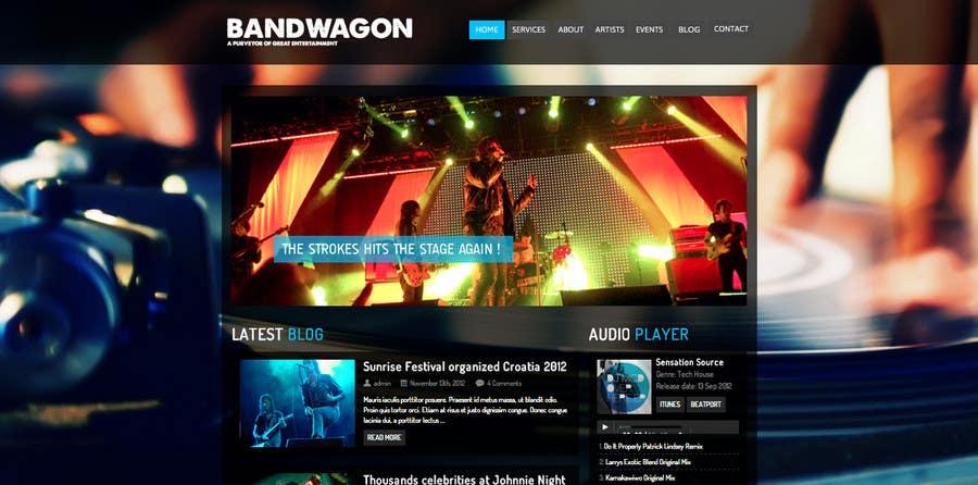 Bài tham dự cuộc thi #                                        8                                      cho                                         Design a Website for Music Band introduction site