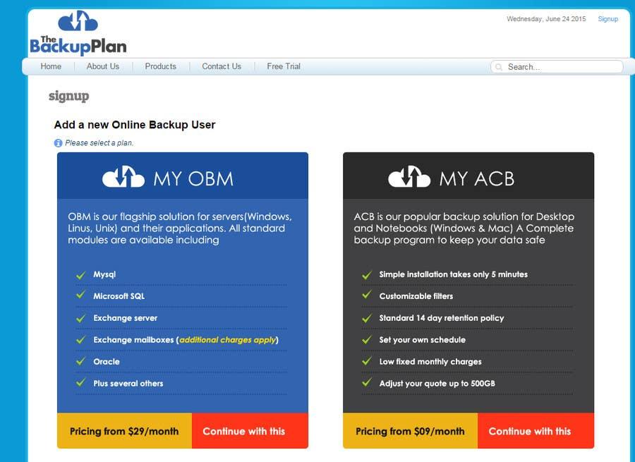 Penyertaan Peraduan #6 untuk Design 2 web signup buttons