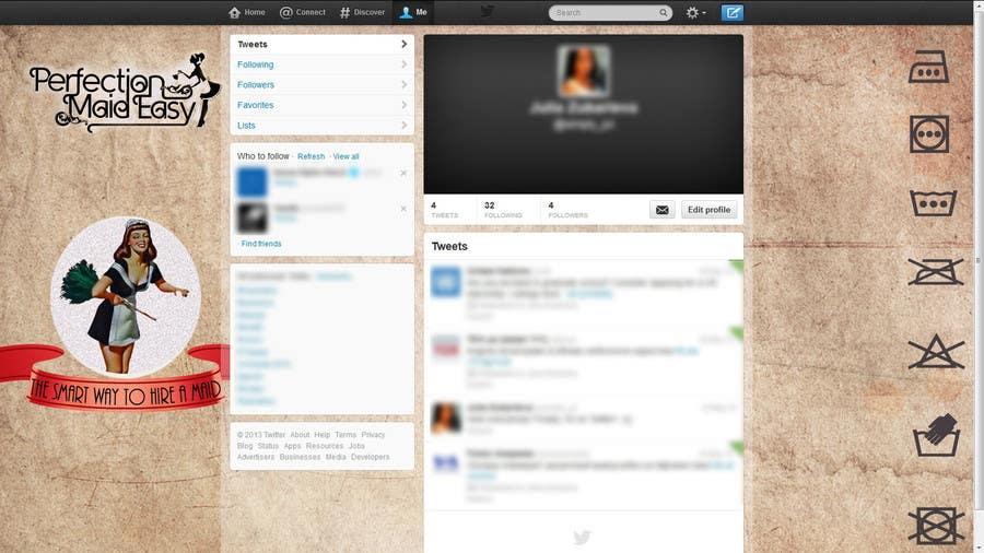 #4 for Design a Twitter background for Company by littleladyju