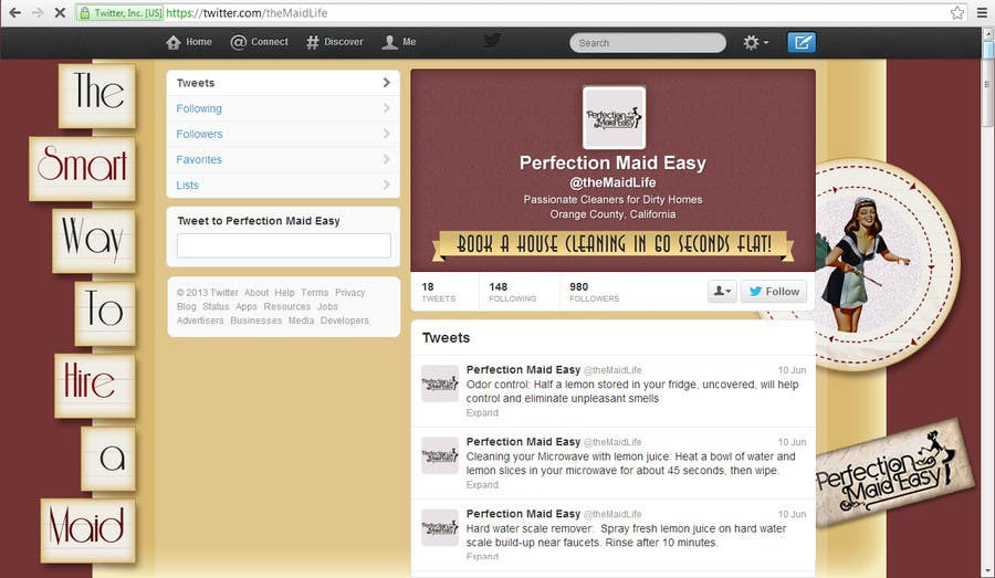 #10 for Design a Twitter background for Company by PereViki