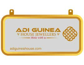 #36 untuk Design a outdoor sign board for a gold jwellery shop oleh dustu33