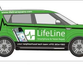 #37 untuk Design wrap for our mobile solution car, phone company oleh manfredslot