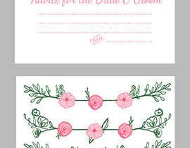 #20 cho Design some Stationery for wedding advice cards bởi ancadc