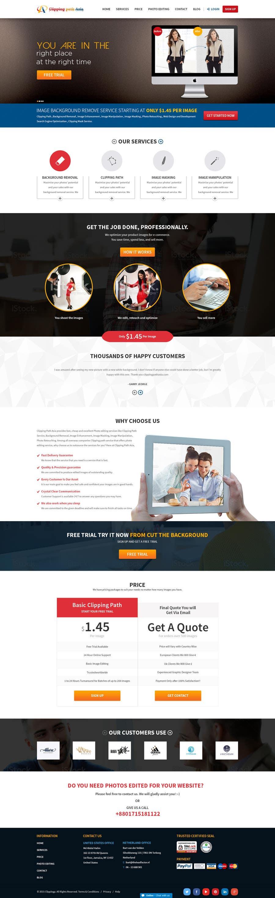 Kilpailutyö #11 kilpailussa Design a Website Mockup for clippingpathasia.com