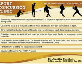 #6 untuk Design a Flyer for Sports Concussion Clinic oleh arvydasbutautas