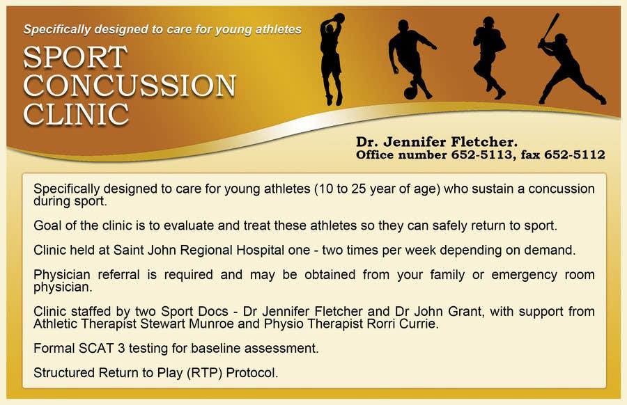 Bài tham dự cuộc thi #10 cho Design a Flyer for Sports Concussion Clinic