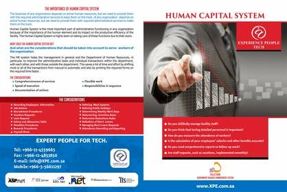 #14 untuk Re-Design of Human Capital System Brochure oleh jayantiwork