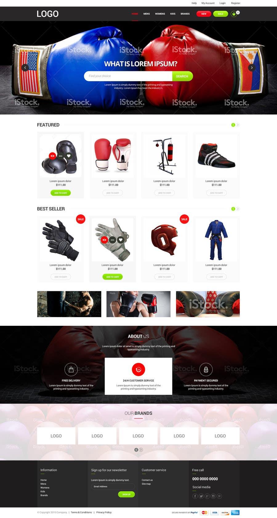 Kilpailutyö #6 kilpailussa Design a MMA design