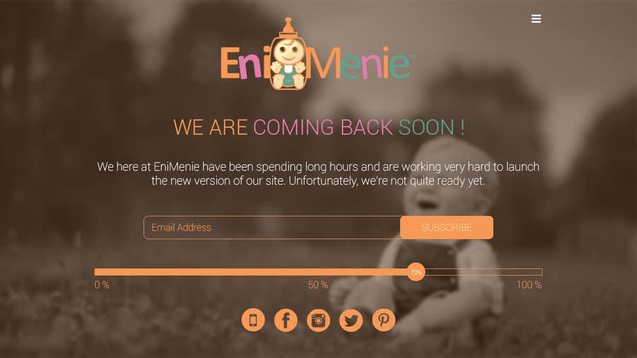 "Penyertaan Peraduan #20 untuk Build a ""Coming Soon Website"" for my Baby Producct Brand"