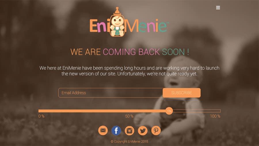 "Penyertaan Peraduan #26 untuk Build a ""Coming Soon Website"" for my Baby Producct Brand"