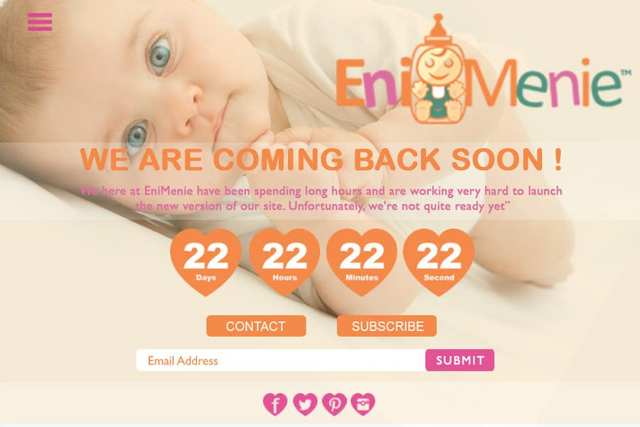 "Penyertaan Peraduan #29 untuk Build a ""Coming Soon Website"" for my Baby Producct Brand"