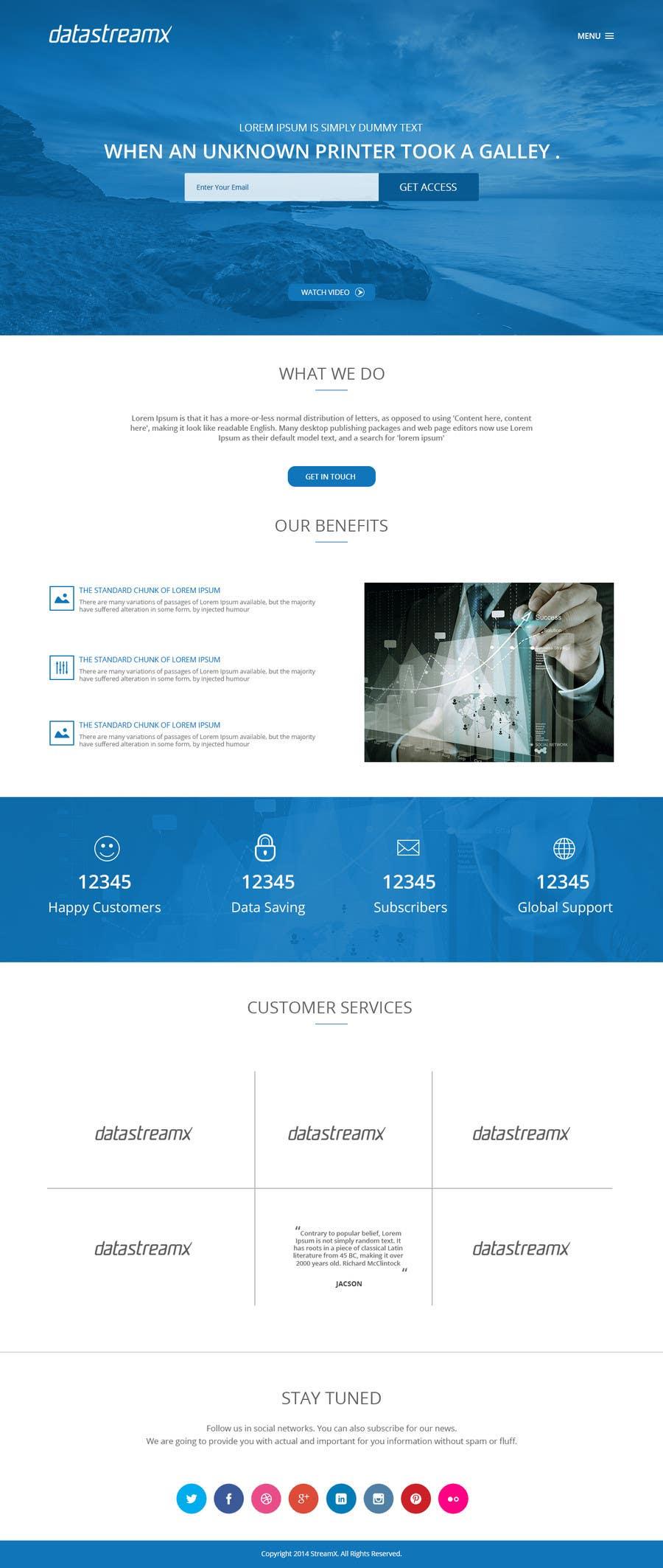 Penyertaan Peraduan #9 untuk Design a Website Mockup for Blog & Landing Page Template