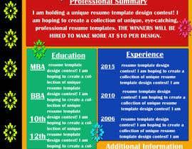 #11 untuk Unique Resume Design Contest oleh gopalnitin