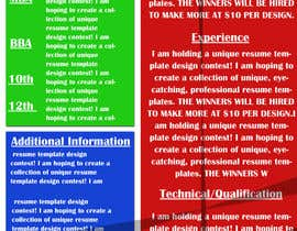 #12 for Unique Resume Design Contest af gopalnitin