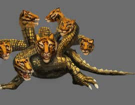 #13 para Lizard with 7 heads 3D por nishankumar
