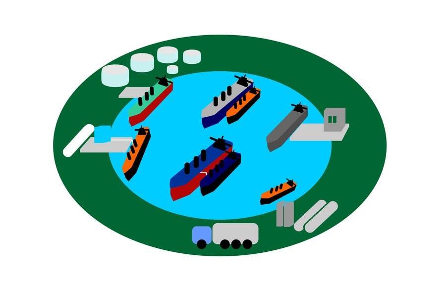 Penyertaan Peraduan #9 untuk Illustrate Something for maritime logistics for LNG