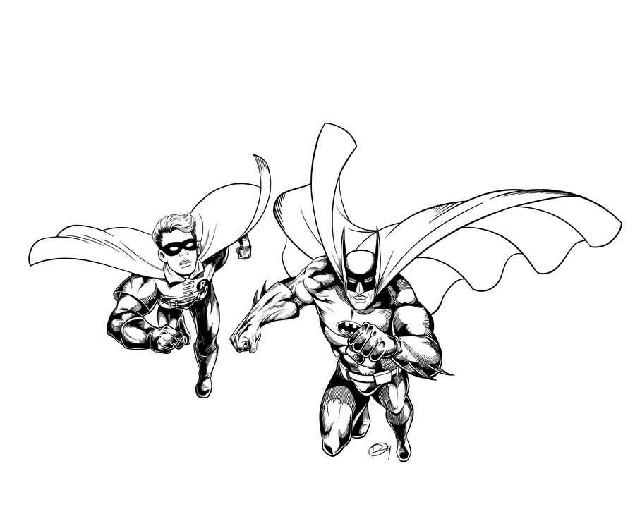 Kilpailutyö #2 kilpailussa 1960,s style Batman and Robin cartoon