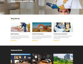 #4 untuk Design a Website Mockup for a construction company oleh kreativmedia