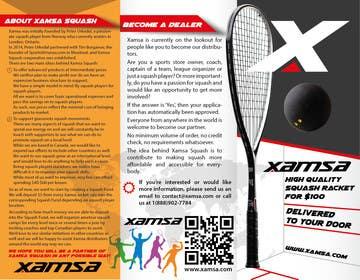 #2 untuk Xamsa Squash Brochure Design oleh yaris196