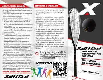 #3 untuk Xamsa Squash Brochure Design oleh yaris196