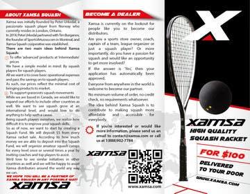 #6 untuk Xamsa Squash Brochure Design oleh yaris196