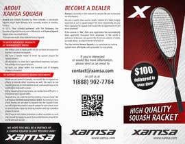 #7 untuk Xamsa Squash Brochure Design oleh ssergioacl