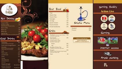 Nro 26 kilpailuun Design  Food and Beverage Menu for Shisha Sports Lounge -- 2 käyttäjältä grapple2013