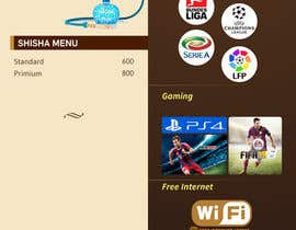 #21 para Design  Food and Beverage Menu for Shisha Sports Lounge -- 2 de mufzilkp