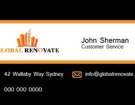 #2 untuk Design some Business Cards for Global Renovate oleh brissiaboyd