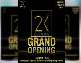 #79 for Design a Flyer for grand opening of clothing store af boris03borisov07