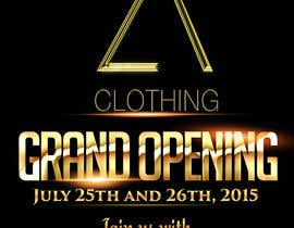 #37 for Design a Flyer for grand opening of clothing store af djmalibiran