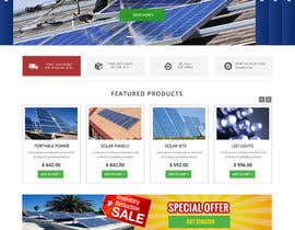 #8 untuk Design a Website Mockup for Solar Powered Products oleh webmastersud