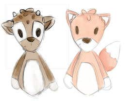 #23 untuk Illustrate Something for Plush Toy set - fox and fawn oleh chloewatx