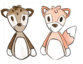 #32 untuk Illustrate Something for Plush Toy set - fox and fawn oleh chloewatx