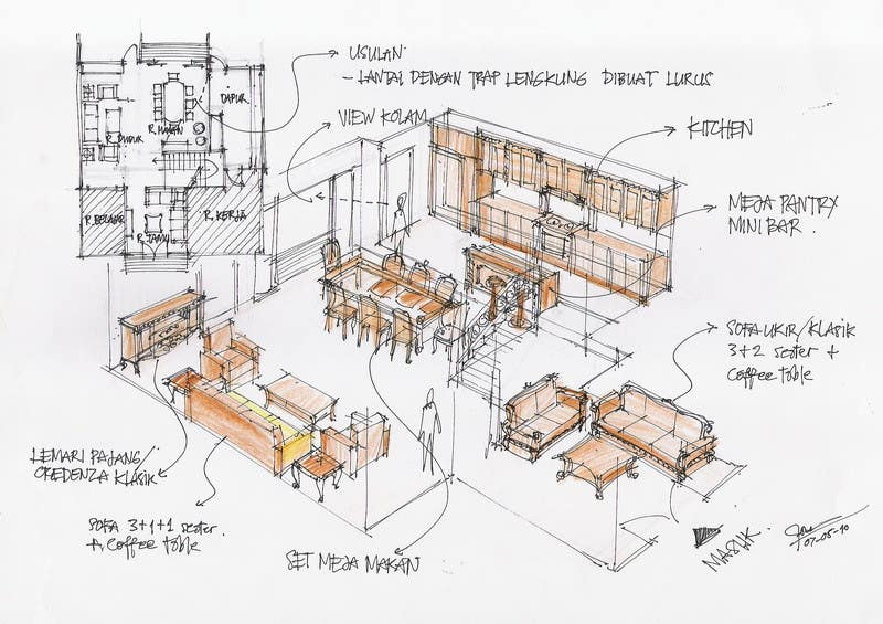 """Bài tham dự cuộc thi #                                        5                                      cho                                         3 DAYS CONTEST: Interior and Exterior Building View of any kind Hand Sketches or Sketchup """"look alike hand sketches """""""