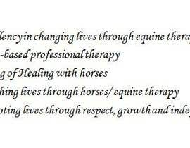 SmartestLancer tarafından Write a tag line/slogan for equine therapy program için no 72