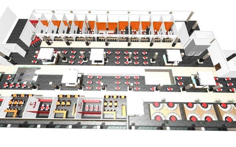 mall food court furniture arrangement floor planning mlc centre food court luchetti krelle archdaily