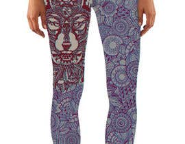 #17 untuk Create a Wolf design for a legging company oleh Christina850