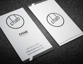 #24 untuk Design some AWESOME Business Cards for Chab Pte Ltd oleh Fgny85