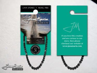 #11 for Create Packaging Designs for handmade lava jewelery af chubbycreations