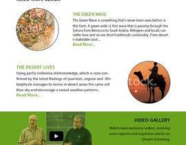 #13 untuk Desert-Greening.com contest! Design our Homepage! oleh priyav09