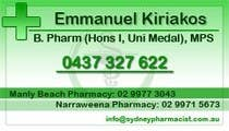 Graphic Design Contest Entry #23 for Business Card Design for retail pharmacist based in Sydney, Australia